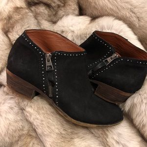 Leather Studded Lucky Brand Booties Ankle Boot